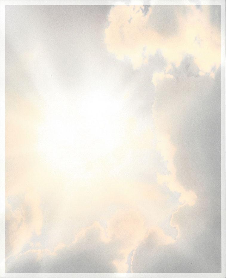Zon door wolken Rouwkaart Rouwcirculaire Dankbetuiging Rouwbrief