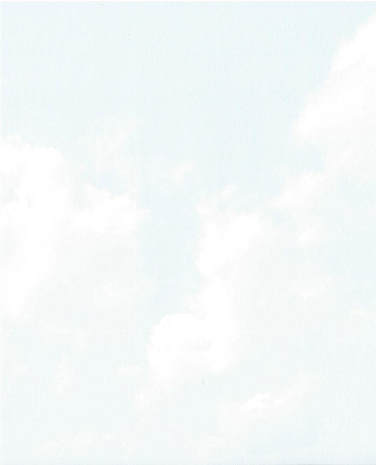 Blauwe wolken Rouwkaart Rouwcirculaire Dankbetuiging Rouwbrief