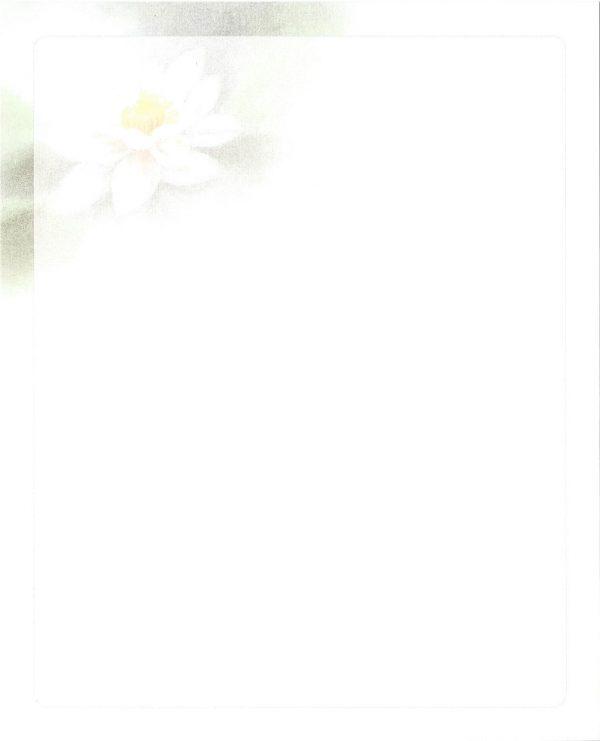 Waterlelie Rouwkaart Rouwcirculaire Dankbetuiging