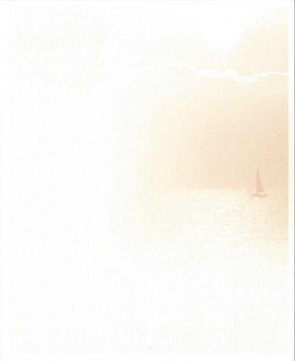 Zeilboot terra Rouwkaart Rouwcirculaire Dankbetuiging
