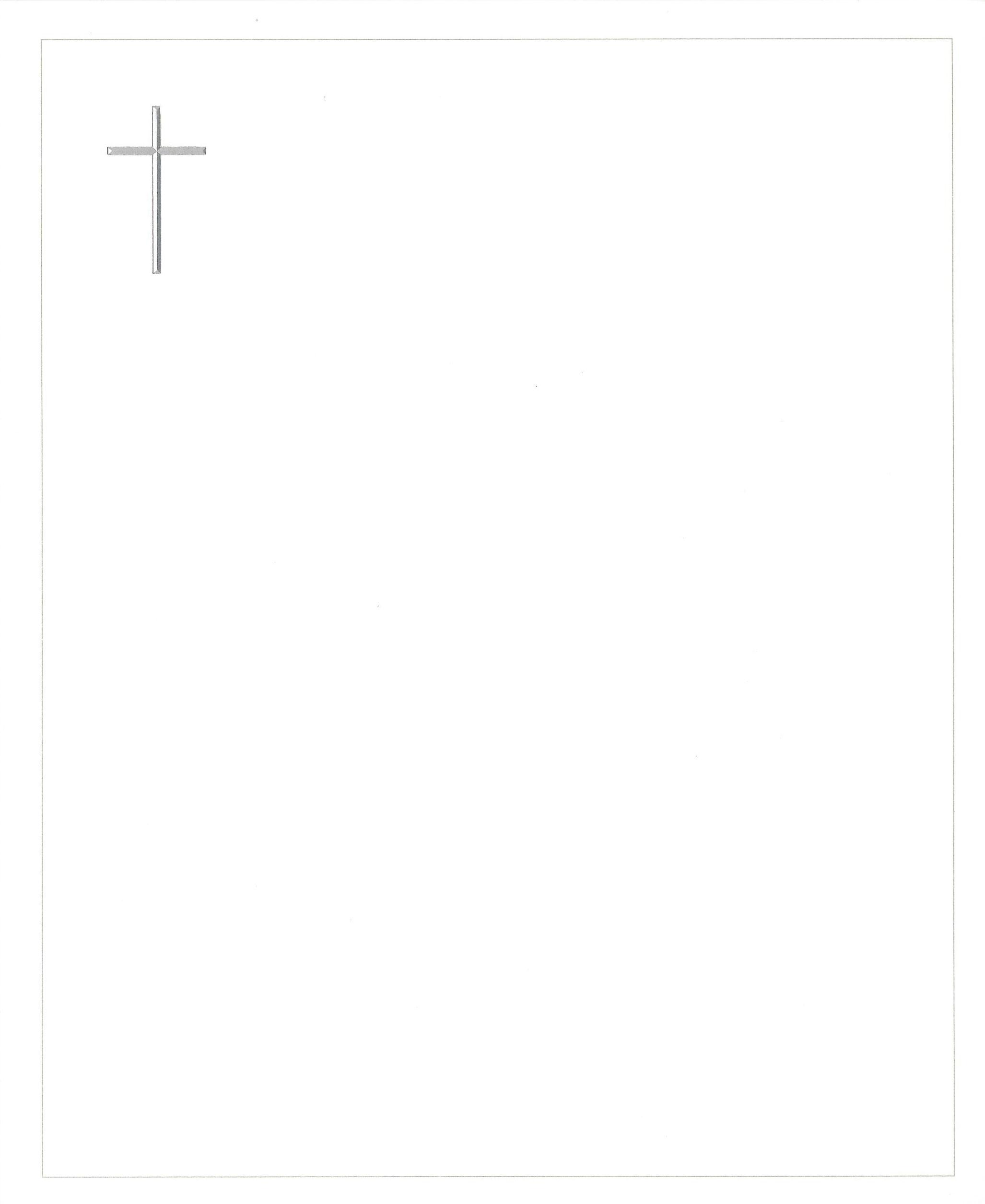 Zilveren kruis Rouwkaart Rouwcirculaire Dankbetuiging
