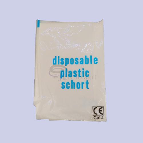 Plastic halterschorten zonder mouwen